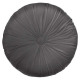 Pillow round velvol dolce gr d40, dark gray