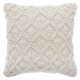 Pillow macram ete 40x40, beige