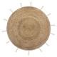 tapis jute lurex cosy d80, beige