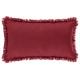 coussin frange rouge 30x50, rouge