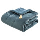 comforter in velvet white 80x180, blue