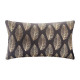 Pillow in gold velvet tropic gr 30x50, dark gray