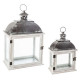 lantern wood metal x2, assorted colors
