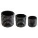 set pots 3d nr x3, black