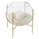 candle holder glass + candle + sand d15, 2-time as