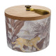 scented candle wood glass 330g, 2- times assorted
