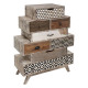 multicolored 8-drawer dresser with koval print