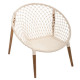 natural armchair wire p mango, white