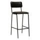 chaise bar cuir dario nr, noir