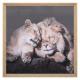 gedrukt canvas / dierlijke cad 58x58, 2- maal geas
