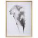 gedrukt canvas / dierenprint 58x78, twee maal geas