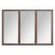 spiegel hout / metaal tina 74x54, bruin