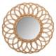 rattan mirror flower multi d50, brown