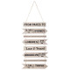 Hanging wall decoration 30x74, 2- times assorted ,
