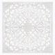 mdf gebeeldhouwde muurdecoratie 90x90, wit
