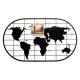 Wereldfoto houder 60x35, zwart