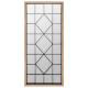 hout / metaal spiegel 71x165, bruin