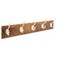 wood patere 5 hooks 74x15, brown