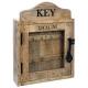 houten sleutelkast 30x40, bruin