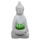 votive candle buddha cement h15, gray