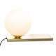 lampara de mesa bola dris d15cm, dorado