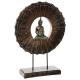 hars boeddha op steun h50, bruin