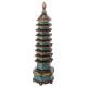 pagode-decohars h50cm, veelkleurig