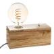 tibu wood bulb base, beige