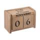koloniale houten kalender, beige