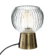 transparante glazen lamp laye h19,5, goud