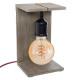 caja wood lampe h25, 3- fach sortiert braun