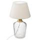 craquelé glazen lamp metaal sila, beige