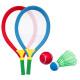raquetas de bádminton + 2 bolas, multicolores