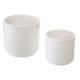 set x2 potten etnische crmq, wit
