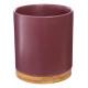 maceta de cerámica + bambú d16 h18, 3- veces surti