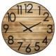 3d wood / metal clock d70 Abby , Brown