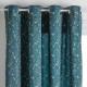 rideau en velours sierra can 140x260, bleu canard