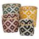 cesta de bambú multico haci x4, multicolor