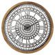 Drewniany / metalowy zegar D63 Louison, czarny