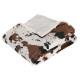 tela escocesa de vaca 130x160, blanco