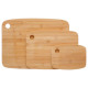 bamboo cutting board x3, colorless