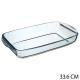 plat rechthoekig glas 34x19cm, transparant