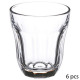 x6 baroque glass 10cl, transparent