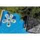 Lounge piscina de pétalos, azul claro