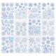 Deko Glitzer blau 30x42cm, 12- fach sortiert