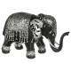 elephant black / silver pm h.12.5, black