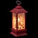 mini lanterna rossa decorazione di Natale 2ass, 2