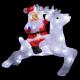 outdoor lighting Santa Claus on reindeer 60l h34