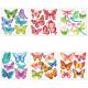 vlinder reliëf sticker x6, 6- maal geassorteerd ,