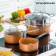 Batterie de Cuisine avec Cuiseur-Vapeur Copper-Eff
